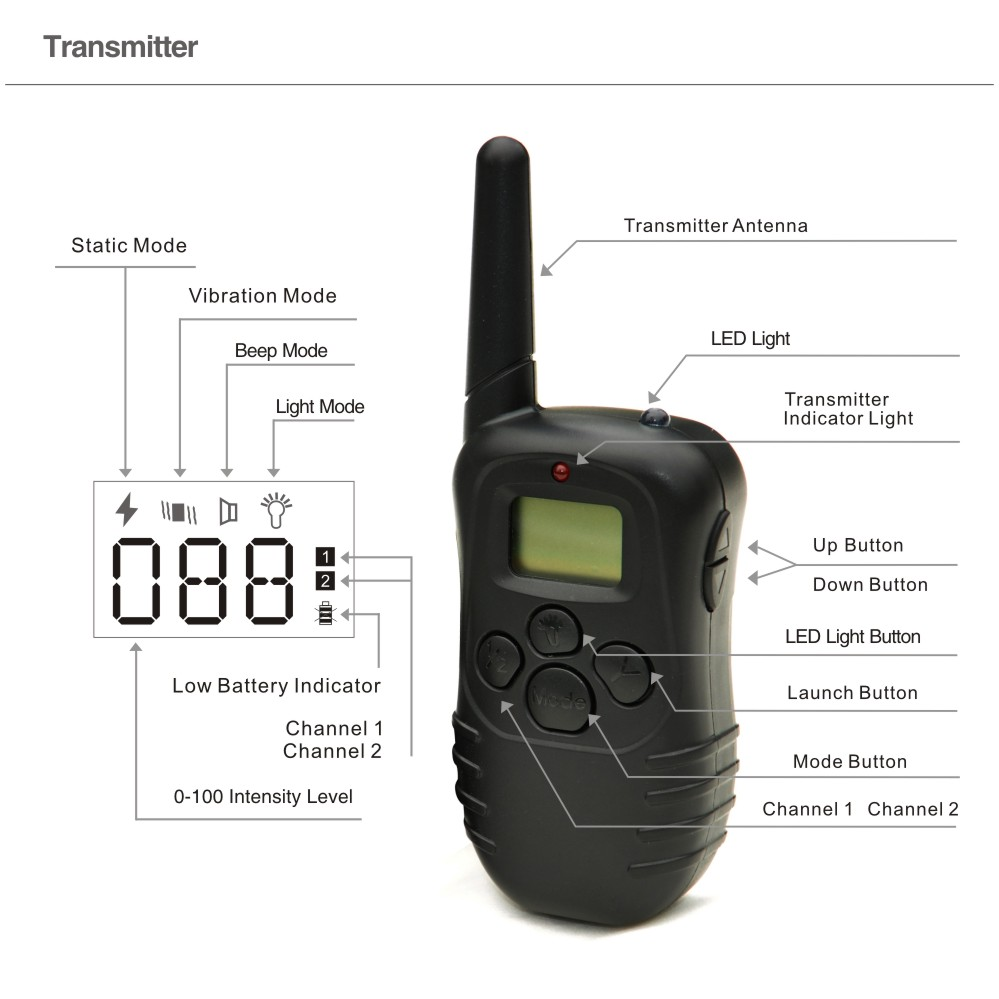 PET998D Remote Transimtter-in Training Collars from Home & Garden