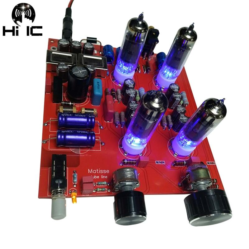 Olive Bile Preamp Pre Amp Tube Amplifier Preamp Bile Buffer 6K4 MINI HIFI Tone Board Preamplifier