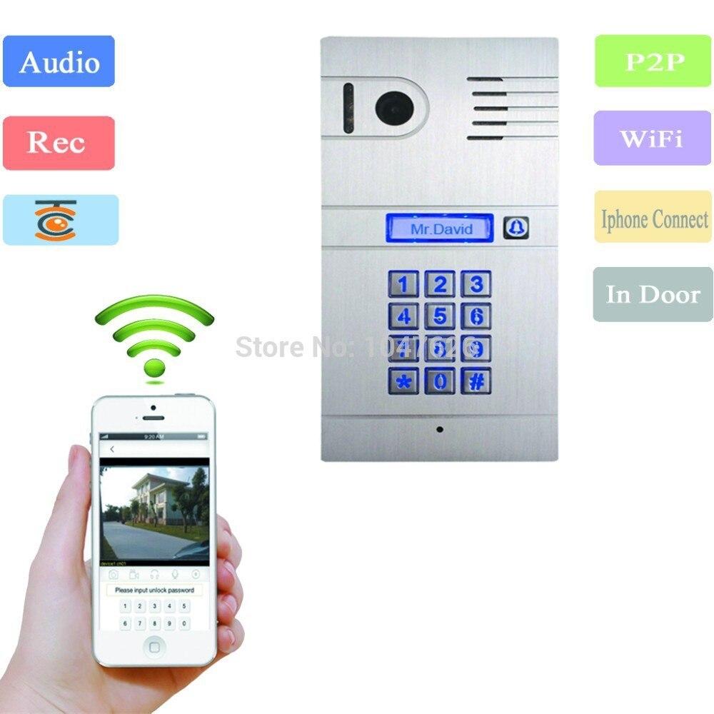 Wifi porte téléphone 2.4G interphone vidéo sans fil sonnette vision nocturne détection de mouvement alarme portier Support Android OS/iphone OS
