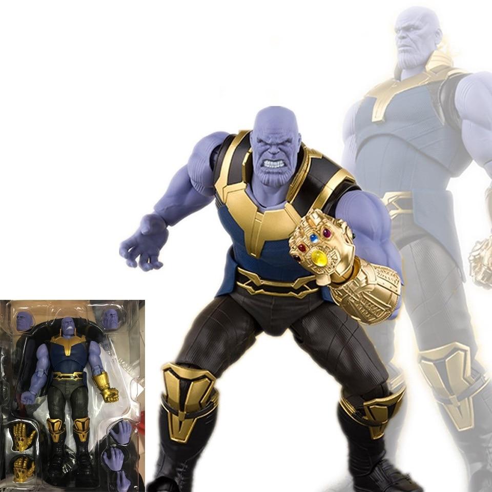 New SHFiguarts SHF Thanos Avengers Infinity War BJD Action Figures Toys for Children Christmas Birthday Gift