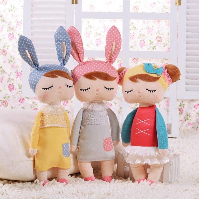 30cm New Metoo Cartoon Stuffed Animals Angela Plush Toys Sleeping Dolls for Children Toy Birthday Gifts Kids #87677