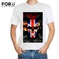 Marca de moda Hip Hop dos homens do Crânio T-shirt Causal Aptidão T camisa Homem Streetwear Novos Elegantes Camisas de Manga Curta Masculina O pescoço
