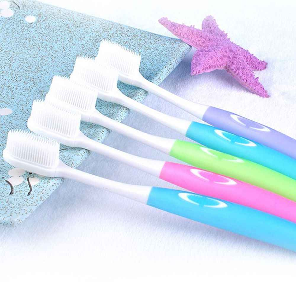 Random Color 1PC Soft Toothbrush Nano Brush Teeth Cleaning Oral Hygiene Care Soft Bristle Toothbrush For Dropshipping