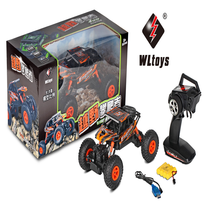 WLtoys 18428-B 2.4G 4WD 8km/h 1/18 RC Monster Truck Climbing Car Elettronico Truggy Model Children Toys Hobby цены