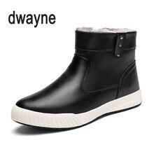 2018 Mais Novo Super Quente Botas de Inverno Homens Desgaste-Oposição de Alta Qualidade PU de Couro Sapatos de Trabalho Casuais Moda Homens Tornozelos sapatos