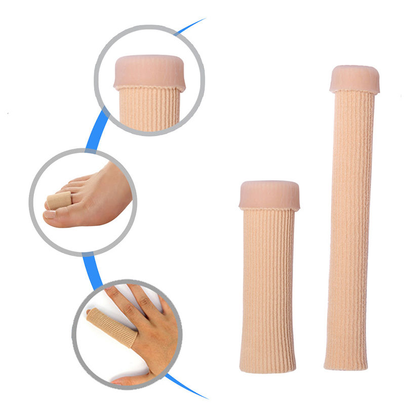 Image 3 - 1Pcs 15cm Fabric Gel Tube Bandage Finger & Toe Protectors Foot Feet Pain Relief Guard for Feet Care insoles-in Foot Care Tool from Beauty & Health