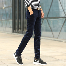 Autumn new males's corduroy pants corduroy trousers, informal pants younger England Slim straight trousers