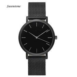Часы с ремешком из нержавеющей стали для мужчин и женщин, аналоговые кварцевые наручные часы, роскошный простой стиль, дизайнерские женские...