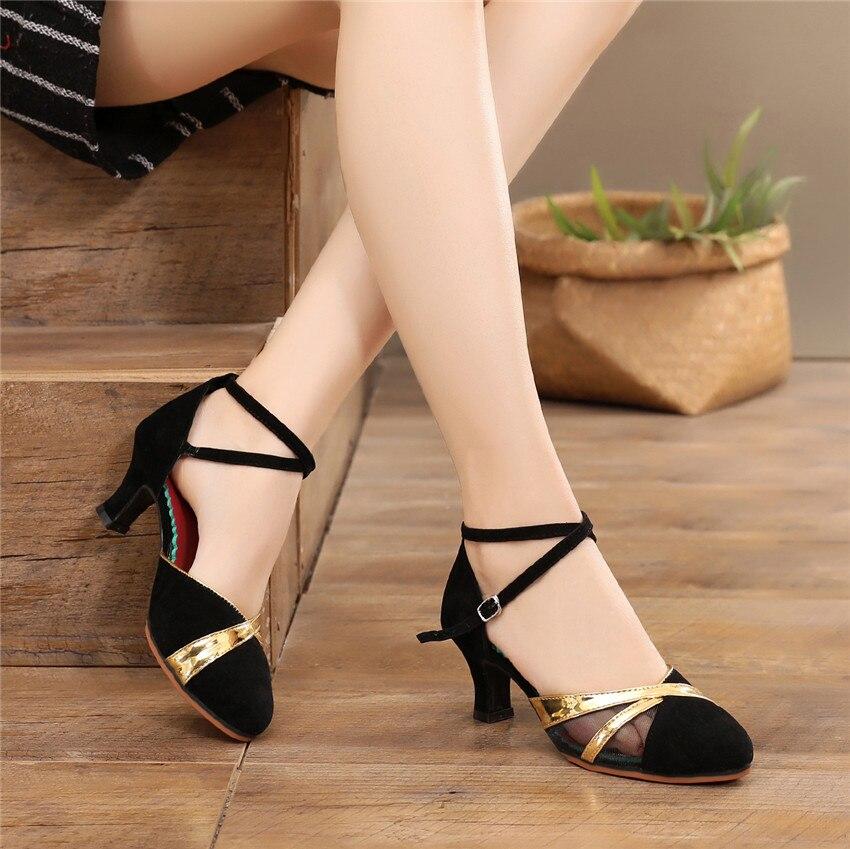 2019 Gold Silver Heels Ladies Shoes Low Heel Pumps Women