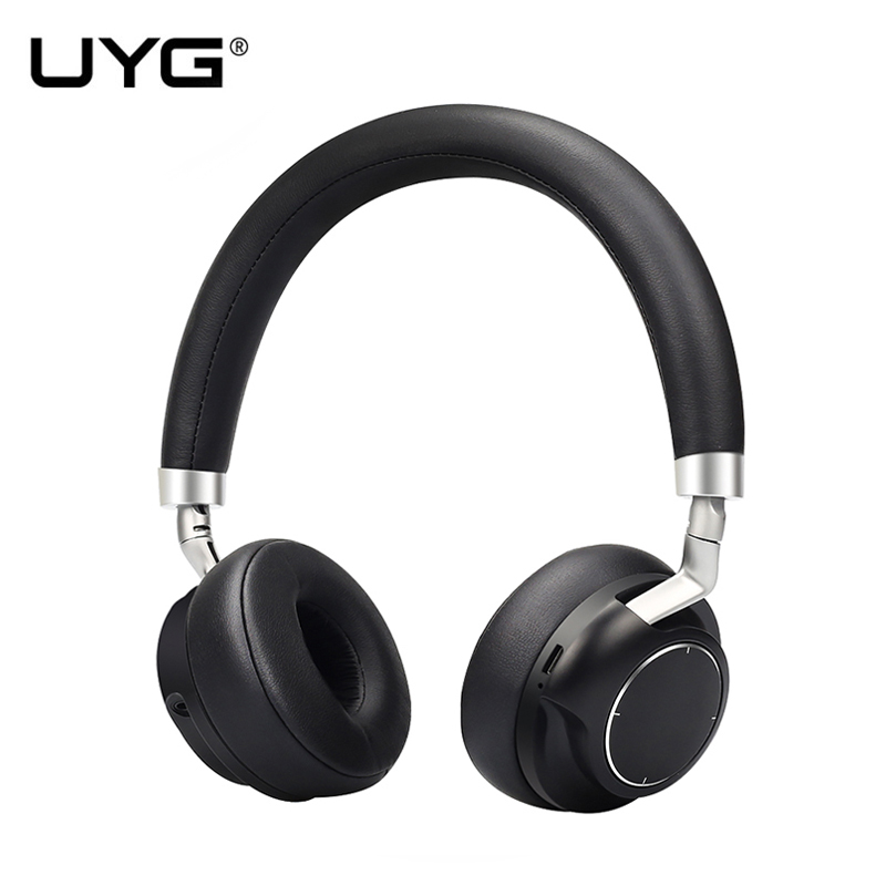 UYG Noise Cancelling Wireless Bluetooth Headphones wireless Headset Deep bass over-ear headphones with Mic for smart phones a01 bluetooth headset v4 1 wireless headphones noise cancelling with mic handsfree earpiece for driving ios android