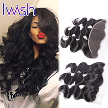 Iwish Peruvian Virgin Hair Body Wave Frontal Human Hair Weave Ear to Ear Lace Frontal Closure Unprocessed Wet Wavy Body Wave