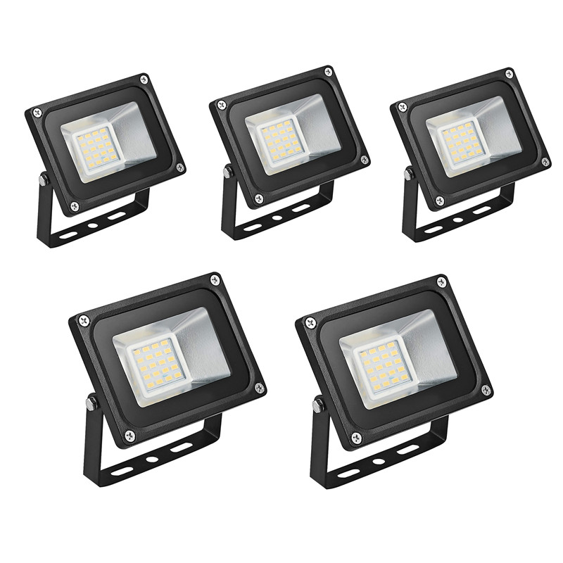 5Pcs <font><b>20W</b></font> Refletor <font><b>LED</b></font> <font><b>Floodlight</b></font> 220V <font><b>LED</b></font> Flood Light <font><b>LED</b></font> Spotlight Reflector <font><b>LED</b></font> Spotlight Outdoor Lighting Waterproof IP65 image