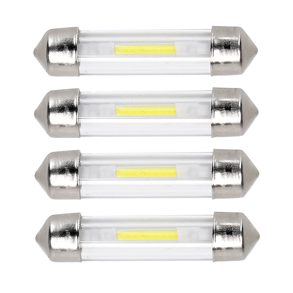 4pcs COB C5W Licens Plate Light Festoon Dome Reading Light LED Car Interior Light Auto Door Lamp 31mm 36mm 39mm 41mm Car-styling cawanerl car canbus led package kit 2835 smd white interior dome map cargo license plate light for audi tt tts 8j 2007 2012