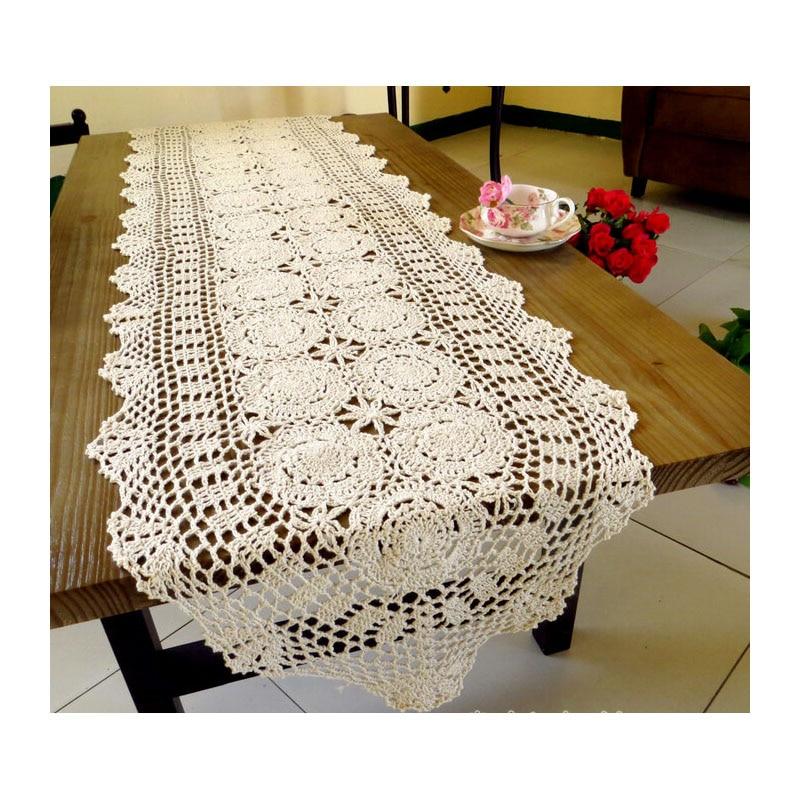 Aliexpress.com: Comprar Ganchillo hecho a mano camino de mesa de ...