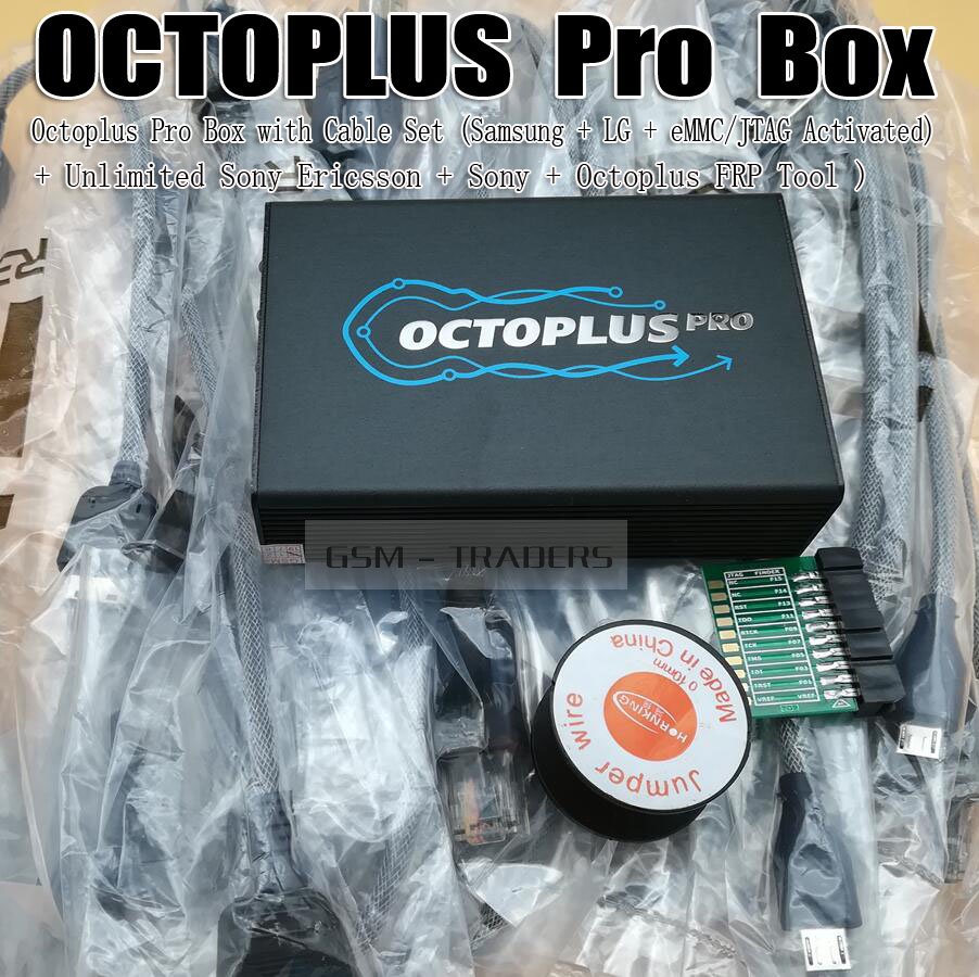 Octoplus Pro Box with Cable/Adapter Set ( Activated for Samsung + LG + eMMC/JTAG + Unlimited Sony Ericsson + Sony + Octoplus FRP