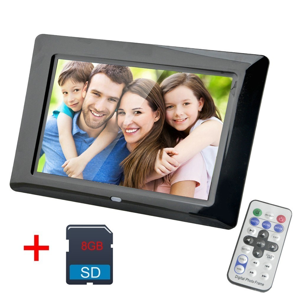 7 Inch Digital Photo Frame 8GB LED Backlight Electronic Album Picture Music Video Porta Retrato Digital