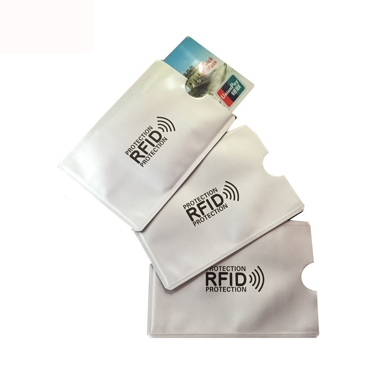 Security & Protection Conscientious 20 Pcs Rfid Nfc Card Anti Degauss Sleeve Bank Card Credit Card Protect Anti-scan Card Sleeve Anti-magnetic Aluminum Meticulous Dyeing Processes