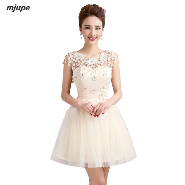 New short prom dresses cheap hollow out bandage back tulle elegant ...