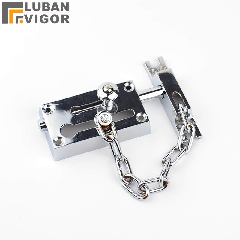 high security  Zinc Alloy Anti-Thief Door Chain Lock,16cm chain doors buckle,Protecting the family