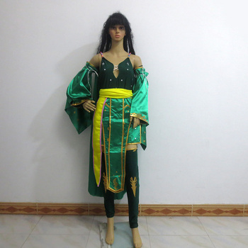 Final Fantasy Rydia Christmas Party Halloween Uniform Outfit Cosplay Costume Customize Any Size