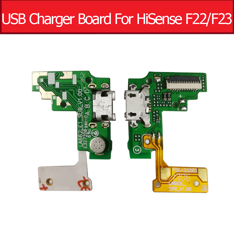 USB Jack Port Charging Board For HiSense F22 F23 HS-F22 HS-F23 USB Charger Dock Socket Connector Board Parts LA662LE1_SUB_V1.0