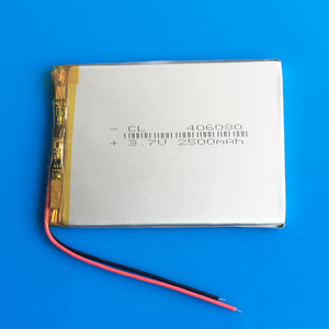 3.7V 2500mAh polymer lithium Lipo rechargeable battery 406080 for GPS DVD PDA PAD power bank e-book camera tablet PC 4*60*80mm
