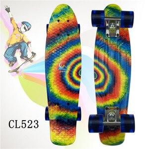 Image 2 - Mini Cruiser Skateboard LED Light Four Wheel Skate Board Adult&children Tablas De Skate Board Loaded Skateboard Complete