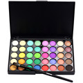Popfeel 1pc Cosmetic Matte Eyeshadow Cream Makeup Palette Shimmer Set 40 Color+ Brush Set  New Arrival J170127