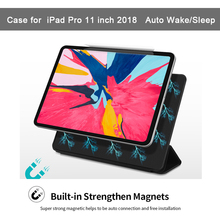 Magnetic Ultra Slim Smart Cover for iPad Pro 11 inch Case 2018 Trifold Stand Safe Full Body Cover Auto Wake/Sleep Tablet цена в Москве и Питере