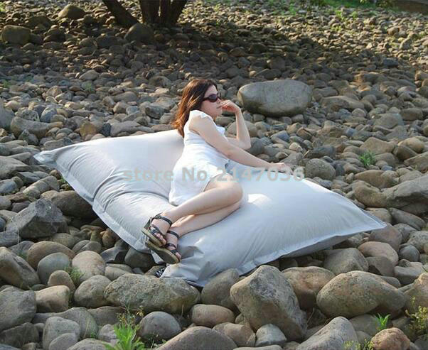 Outdoor indoor waterproof fabric oversized square sitting puffs bean bags without beans in white full rims square oversized sunglasses