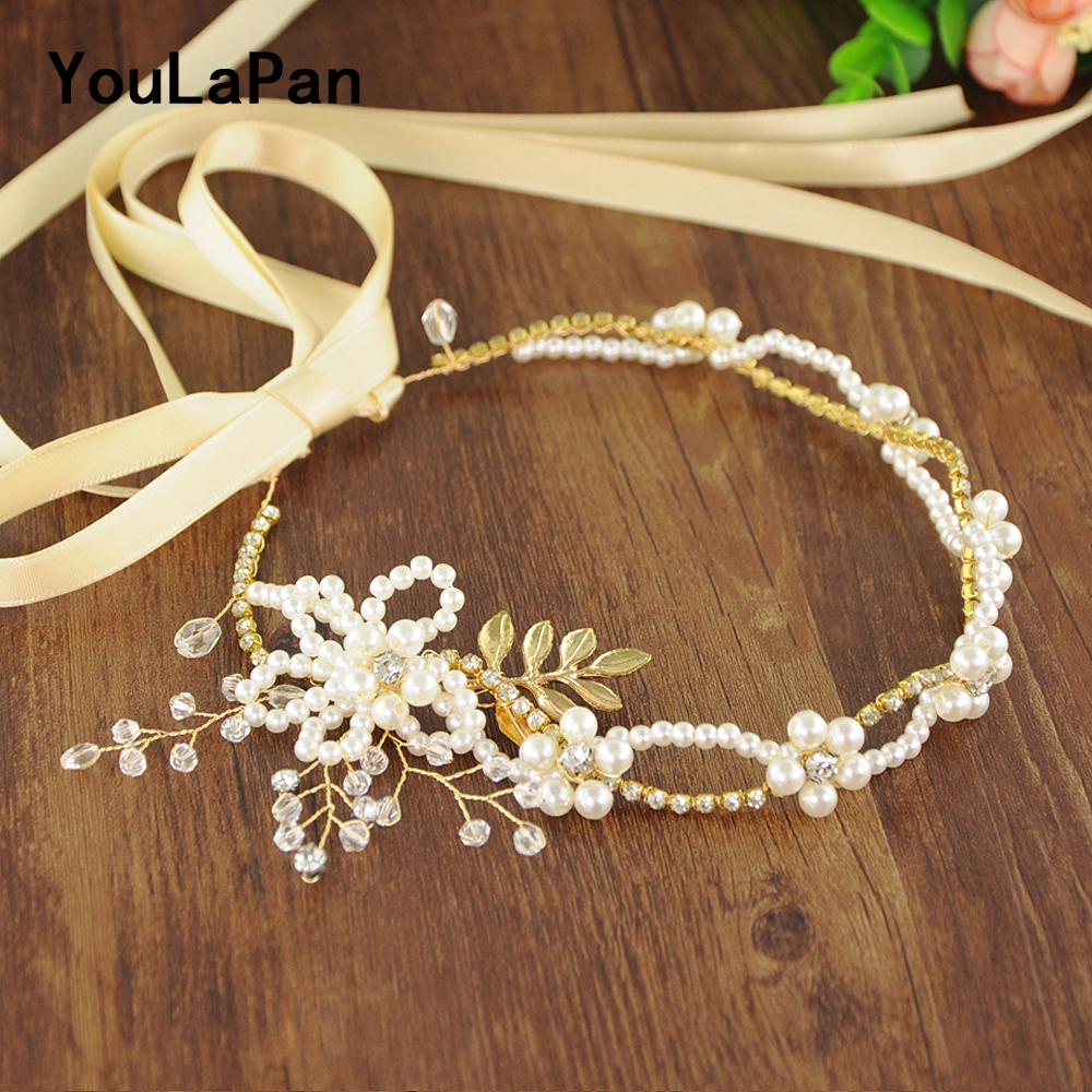YouLaPan SH146 Girls Belt Bridal Belts Wedding Sash Beadings Wedding Belt Pearls Bridal Sash Wedding Accessories Thin Belts in Bridal Blets from Weddings Events