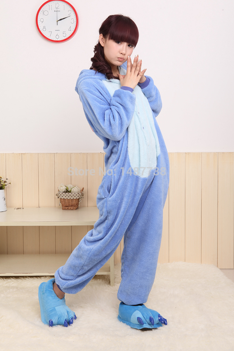 Kigurumi Animal Stitch Onesie Unisex Kostüme Sleepsuit Adult Cartoon - Kostüme - Foto 3