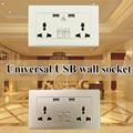 XOM Universal USB wall socket support all countries for cellphone tablet charging outlet Free shipping