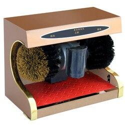 Dobry sprzęt do polerowania obuwia automatyczna indukcja maszyna do użytku domowego szczotka elektryczna ze skóry|Półki i organizatory na buty|Dom i ogród -