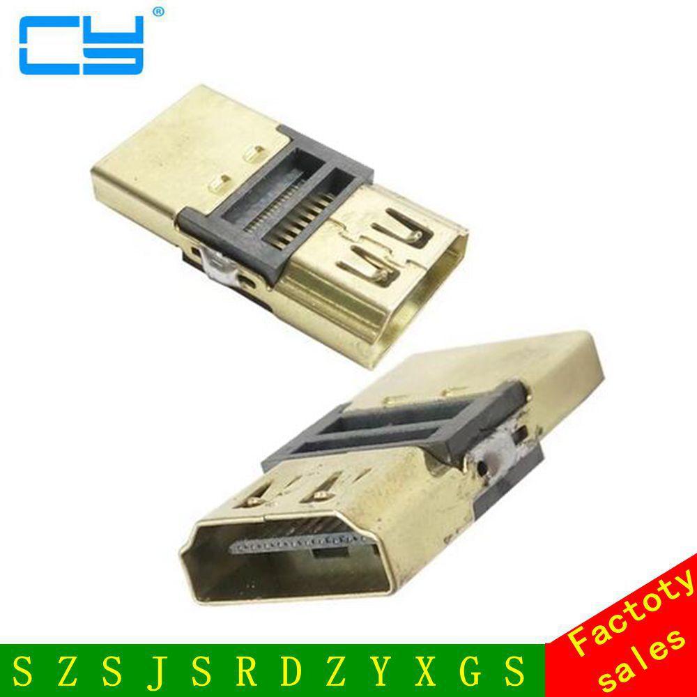 DIY HDTV 4.1 F/F Acoplador Adaptador Extender HDMI Fêmea Para HDMI Fêmea Ficha Para 1080 P Cabo HDMI extensão do Conector Conversor