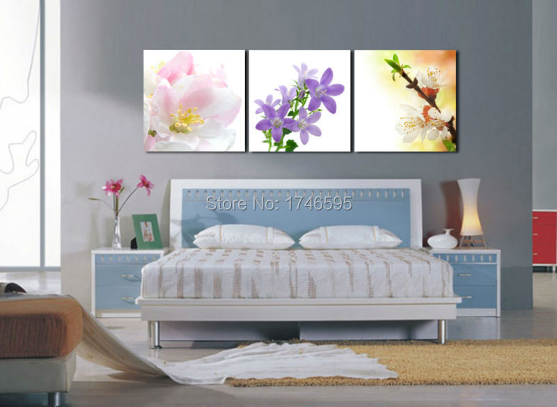 Big 3pcs Home Wall Art Decor Picture Printed Flowers Oil Painting Living Room Dining Canvas Print