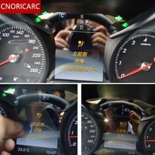 CNORICARC приборной панели автомобиля панель защита экрана декоративная крышка Накладка для Mercedes Benz C class W205 GLC200 260 300 2015- 18