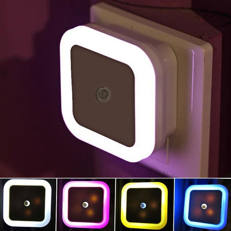 Light Sensor Control Wall Night Lamp Induction Energy Saving Sleeping Nightlight 110V-220V Indoor Lighting For Baby Room