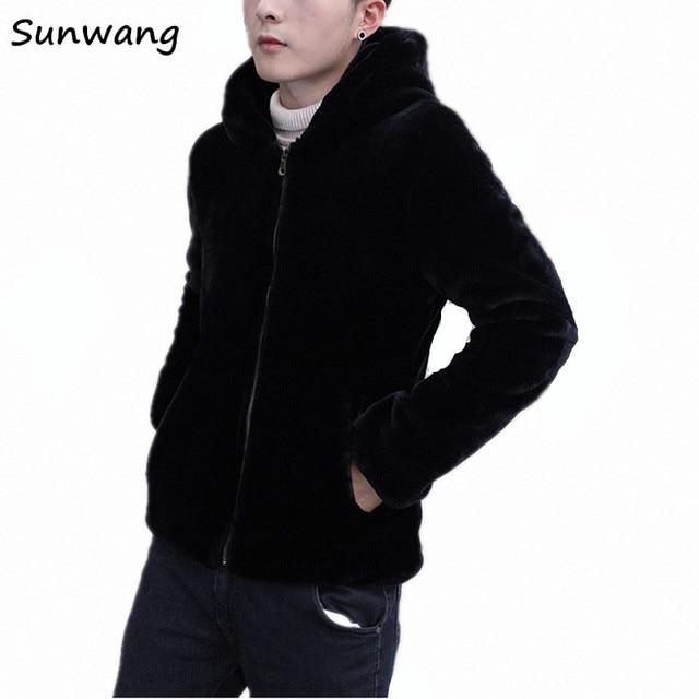 0abdc411d9d 2019 New Arrival Brown Black Korean Fashion Thick Warm Winter Clothing  Hooded Parka Mens Faux Fur Coat Jackets Men Plus Size 5XL