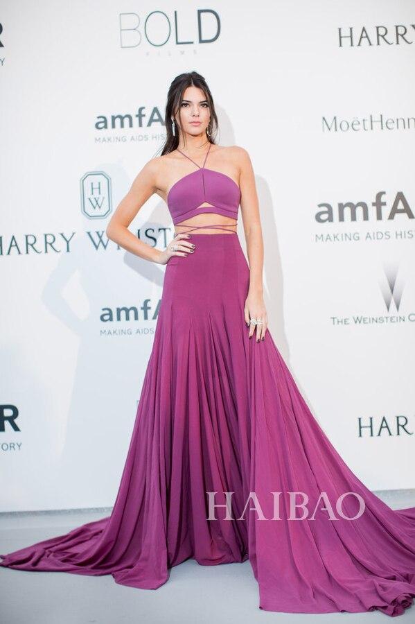 Abendkleider 2015 Sexy vestido de dos piezas vestido de fiesta largo ...