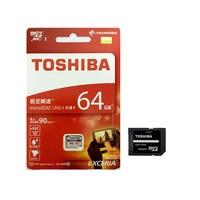 TOSHIBA U3 Memory Card 64GB SDXC Max UP 90MB S Micro SD Card Class10 Adapter