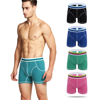 2019 In the winter The new design Men 's Boxers To keep warm Lengthen Straight Male With Thick Cotton Pants  Underpants цена 2017