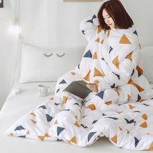 Winter Lazy Quilt with Sleeves Autumn family Blanket Cape Cloak Nap Blanket Dormitory Mantle Covered Blanket