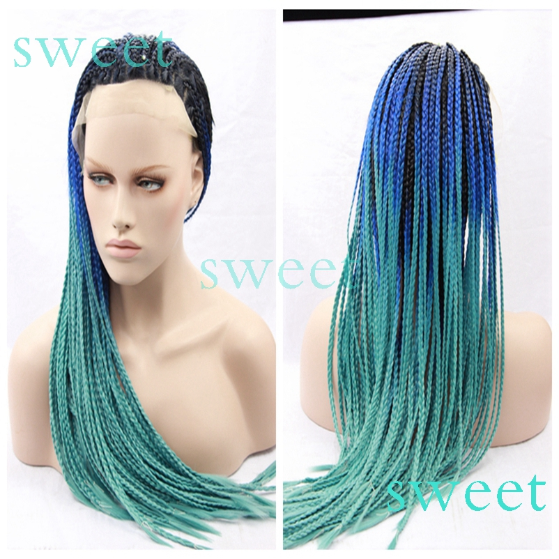 Green And Blue Box Braids Find Your Perfect Hair Style