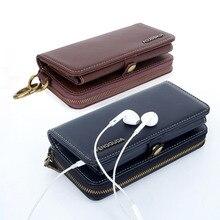 Универсальный кошелек кожаный для YotaPhone 2 молнии чехол для Huawei P8 P9 Lite P10 Honor 8 случае визитная карточка держатель телефона сумки