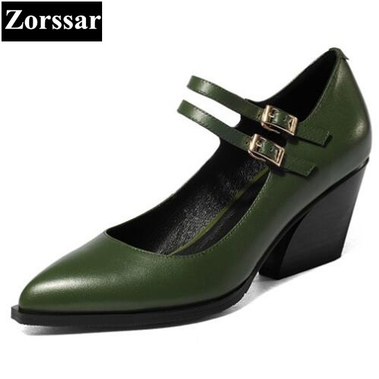 {Zorssar} women pumps pointed toe wedges high heels Large size womens shoes 2017 woman Genuine leather casual office shoes plus size 34 49 new spring summer women wedges shoes pointed toe work shoes women pumps high heels ladies casual dress pumps