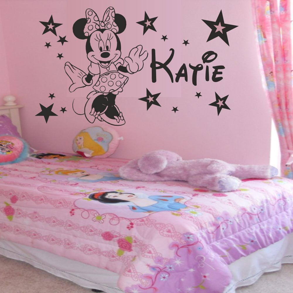 Personalised minnie mouse stars girls bedroom wall art sticker personalised minnie mouse stars girls bedroom wall art sticker decal any name in wall stickers from home garden on aliexpress alibaba group amipublicfo Choice Image