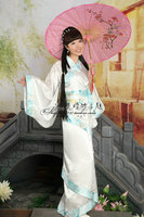 New 2018 Hanfu women's clothes black Pink red handkerchief blue embroidered Costumes Ancient Clothes