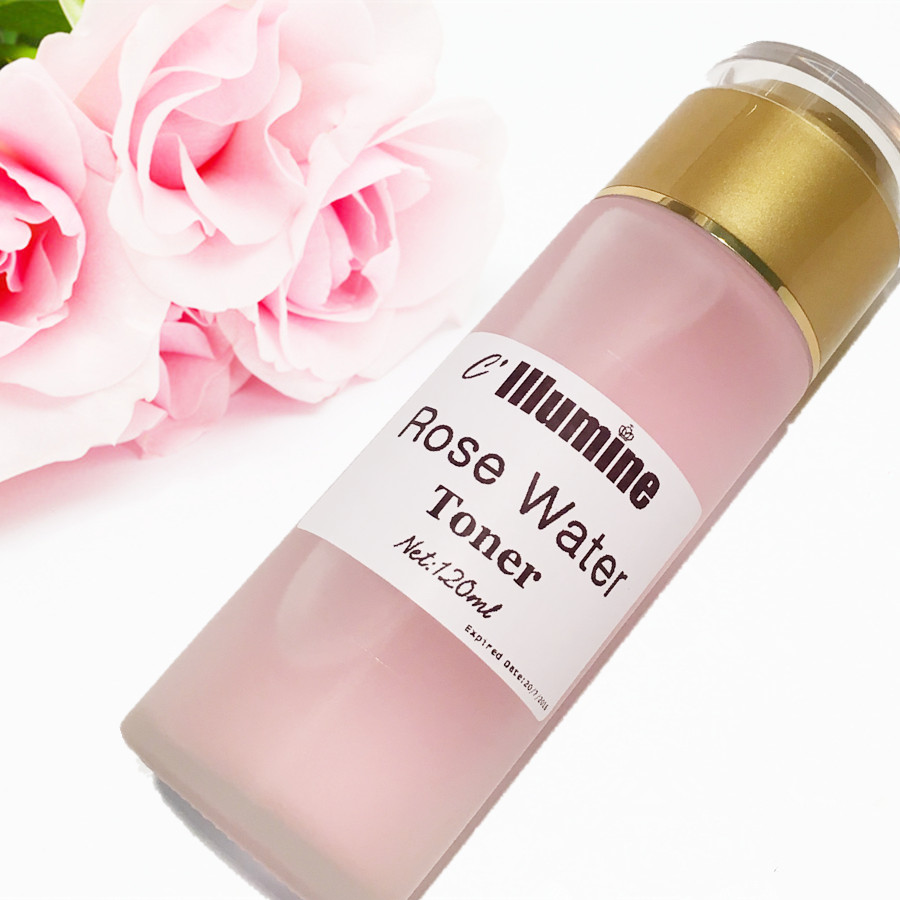 Rose Water Toner Moisturizing Facial Moisturizer PH Balance Stem Cell 120ml Beauty Care