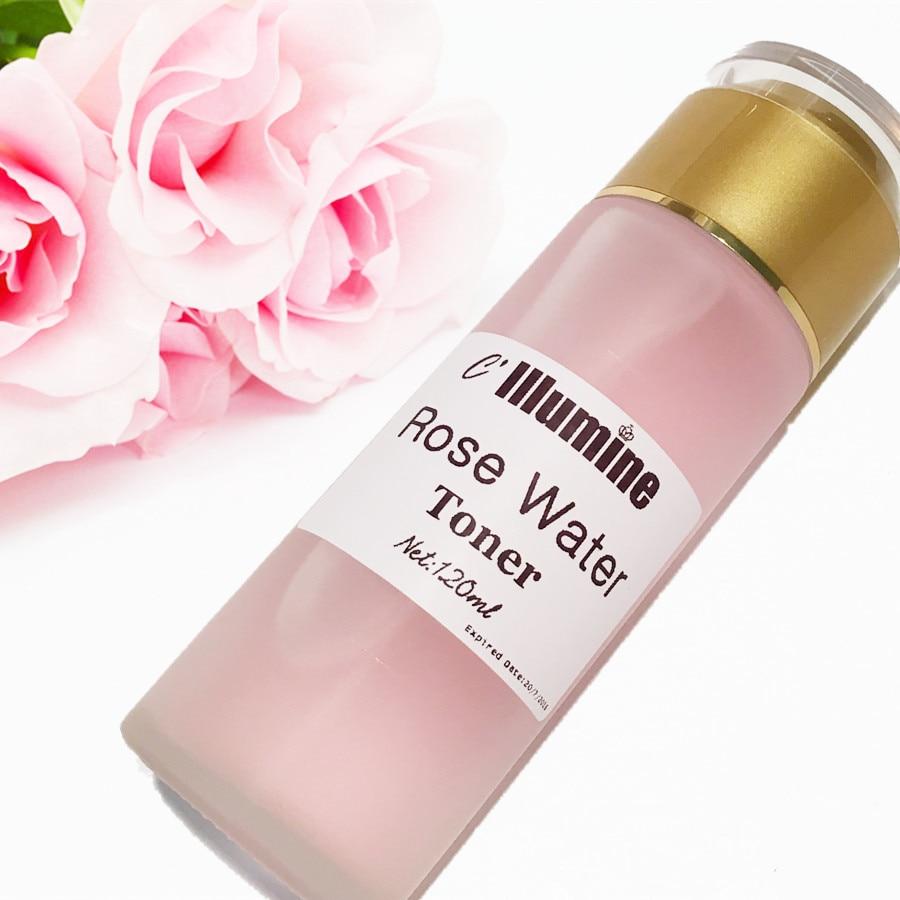 Rose Water Toner Moisturizing Facial Moisturizer PH Balance Stem Cell 120ml Beauty Care